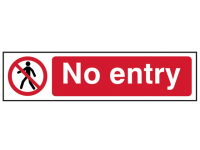 Scan No Entry - PVC 200 x 50mm
