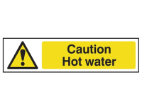 Scan Caution Hot Water - PVC 200 x 50mm