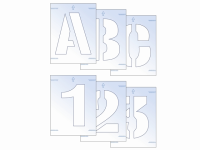 Scan Letter & Number Stencil Kit 50mm