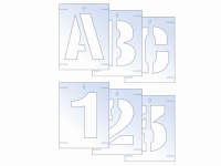 Scan Letter & Number Stencil Kit 100mm