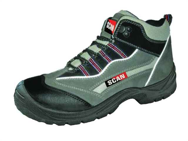 Scan Jaguar Grey Red Safety Hiker Boots UK 10 Euro 44