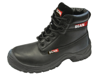 Scan Panther Black Safety Boots S1P UK 12 Euro 46