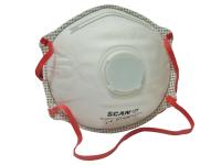 Scan Moulded Disposable Valved Masks(10) FFP3