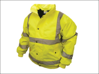 Scan Hi-Vis Bomber Jacket Yellow - M (39-41in)