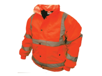 Scan Hi-Vis Bomber Jacket Orange - M (39-41in)