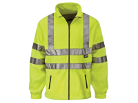 Scan Hi-Visibility Yellow Full Zip Fleece - L
