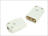 SMJ White 10A 3 Pin Plug & Socket