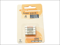 SMJ Pack of 4 Mixed Fuses (1x3a/1x5a/2x13a)