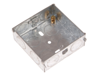 SMJ Metal Back Box 16mm 1 Gang - Carded