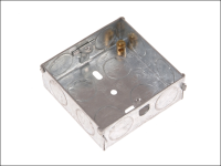 SMJ Metal Back Box 25mm 1 Gang - Carded
