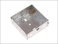 SMJ Metal Back Box 25mm 1 Gang - Carded