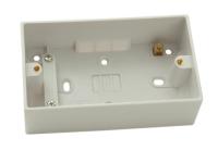 SMJ Surface Pattress Box Double 44mm Depth