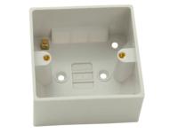 SMJ Surface Pattress Box Single 44mm Depth