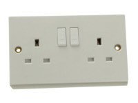 SMJ Double Switched Socket 13A
