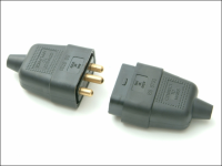 SMJ Black 10A 3 Pin Plug & Socket