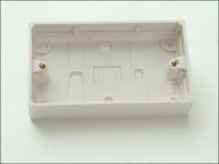 SMJ Surface Pattress Box 25mm 2 Gang