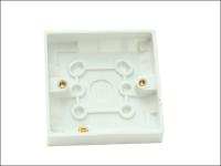 SMJ Surface Pattress Box 16mm 1 Gang