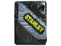 Stanley Tools Premier Black Tarpaulin 1.9 x 2.9m (6 x 9ft)
