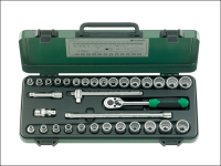 Stahlwille Socket Set of 33 Bi-Hexagon AF / Metric 3/8in Drive
