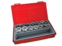 Teng TT1217-6 17 Piece Metric 6p Socket Set 1/2in Drive