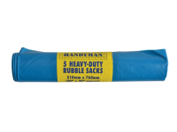 Tristar Handyman Heavy-Duty Blue Rubble Sacks (5)