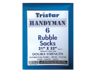 Tristar Heavy-Duty Blue Rubble Sacks (6) 21 x 32in