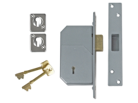 UNION 3G110 C Series 5 Detainer Deadlock 73mm Satin Chrome