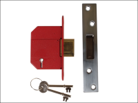 UNION StrongBOLT 2100S BS 5 Lever Mortice Deadlock 81mm 3in Satin Chrome Box