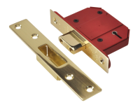 UNION StrongBOLT 2100S BS 5 Lever Mortice Deadlock 68mm 2.5in Satin Brass Box