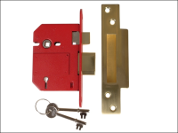 UNION StrongBOLT 2200S BS 5 Lever Mortice Sashlock Satin Brass 81mm Box