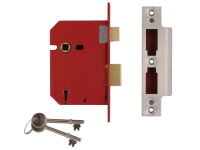 UNION 2201 5 Lever Mortice Sashlock Brass Finish 65mm 2.5in Box