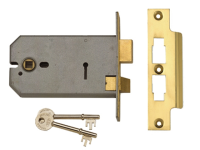 UNION 2077-6 3 Lever Horizontal Mortice Lock 149mm Polished Brass