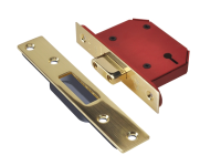 UNION StrongBOLT 2103S Polished Brass 3 Lever Mortice Deadlock 68mm 2.5in Visi
