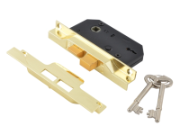 UNION 2242 2 Lever Mortice Rebated Sashlock Electro Brass 65.5mm 2.5in Visi