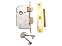 UNION 2277 3 Lever Mortice Sashlock Polished Brass 65mm 2.5in Visi