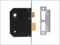 UNION 2294 Mortice Bathroom Lock Chrome Finish 63mm 2.5in Visi
