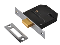 UNION ES-DL Polished Brass Essentials 3 Lever Mortice Deadlock 65mm 2.5in Visi