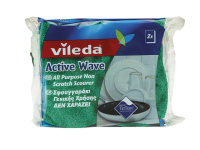 Vileda Active Wave Foam Back Non Scratch Scourer x 2 (Pack 16)