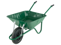 Walsall Boxed 85L Green Easi-Load Builders Wheelbarrow