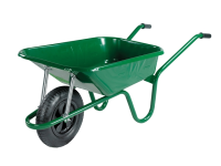 Walsall 90L Green Builders Wheelbarrow