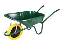 Walsall 90L Green Builders Wheelbarrow - Puncture Proof