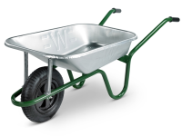 Walsall 85L Heavy-Duty Galvanised Builders Barrow MQ 15