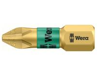 Wera 851/1 BDC BiTorsion Phillips PH1 Insert Bit Diamond Coated 25mm Pack 10