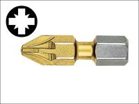 Witte Pozidriv 2pt Titanium Coated Screwdriver Bits 25mm (Card of 2)
