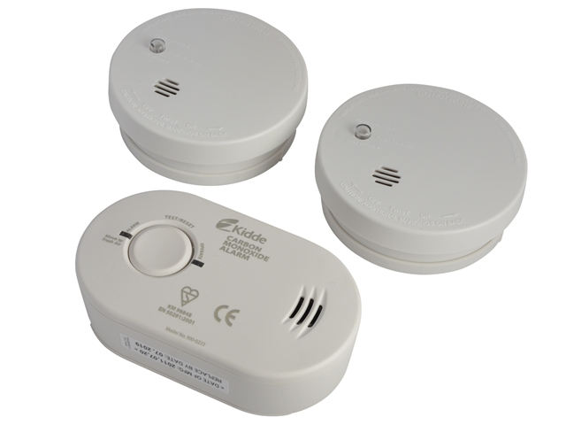 XMS Kidde Alarm Triple Pack - Smoke (2) & Carbon Monoxide (1)