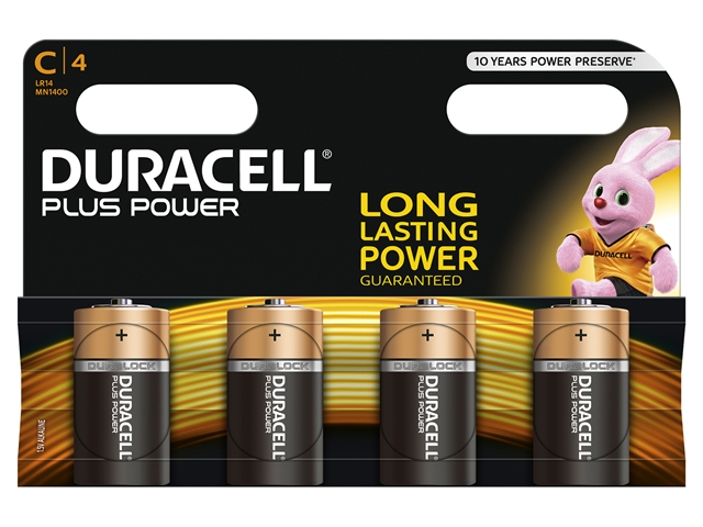 XMS Duracell C Batteries Pack of 4