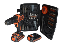 XMS Black & Decker Cordless Combi Drill 18V 2 x 1.5Ah Li-ion