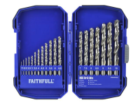 XMS Faithfull HSS Drill Set, 19 Piece