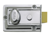 Yale Locks 77 Traditional Nightlatch 60mm Backset Chrome Finish Box