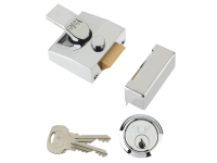 Yale Locks 85 Deadlocking Nightlatch 40mm Backset Chrome Finish Box